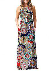 Flower Pockets Maxi Dress -