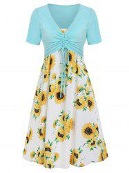 Cami Sunflower Dress with Plunging T-shirt -