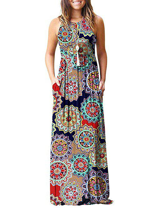 Buy Flower Pockets Maxi Dress