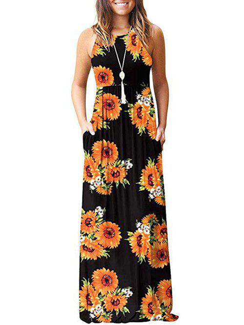 Best Flower Pockets Maxi Dress