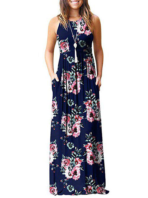 Shop Flower Pockets Maxi Dress