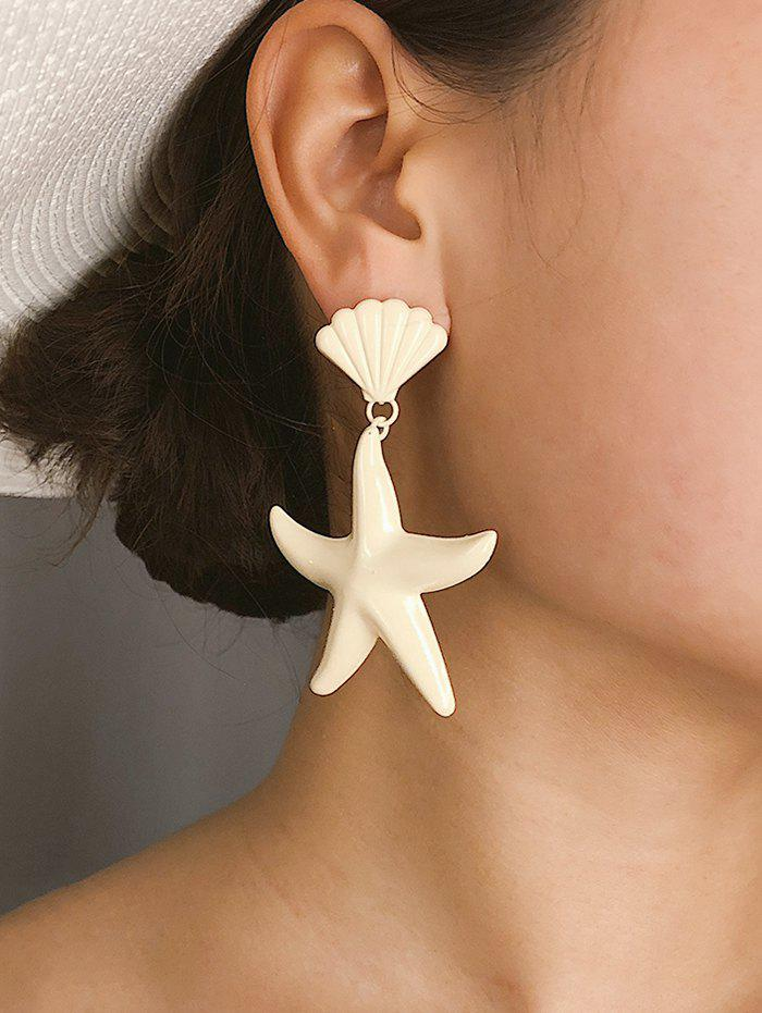 Candy Color Starfish Shell Earrings