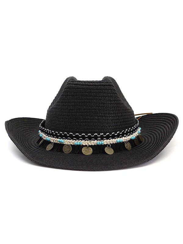 Outfits Disc Decor Straw Cowboy Hat