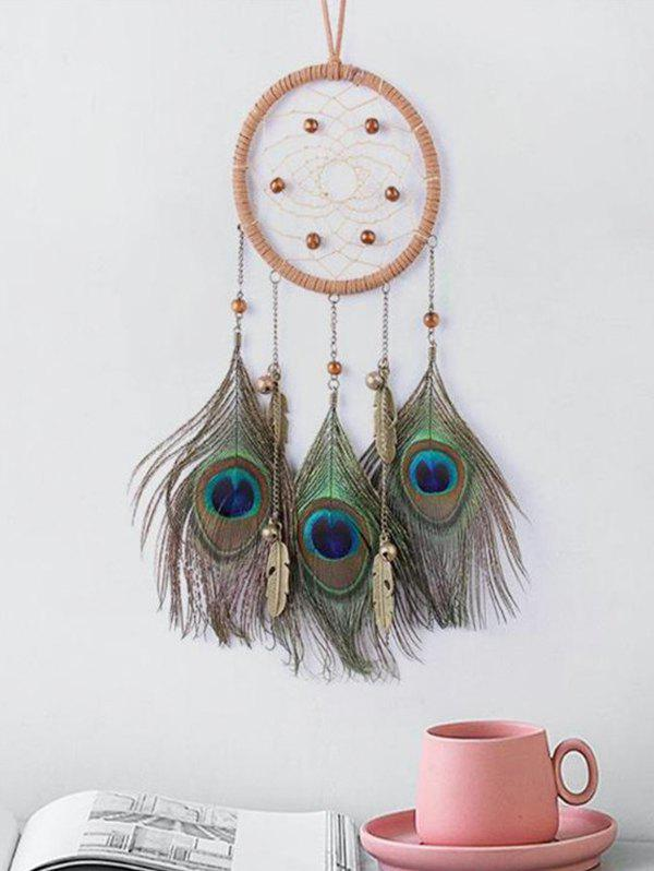 Dream Catcher Peacock Feather Beads Hanging Decor