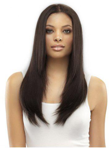 Long Straight Center Part Synthetic Wig