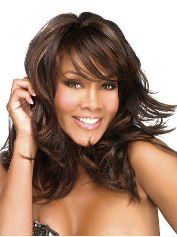Medium Side Bang Natural Wave Synthetic Wig