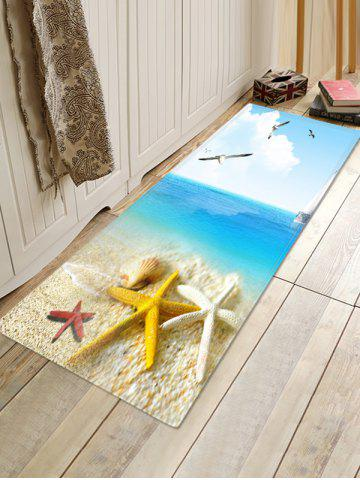 Beach Seagull Pattern Water Absorption Area Rug