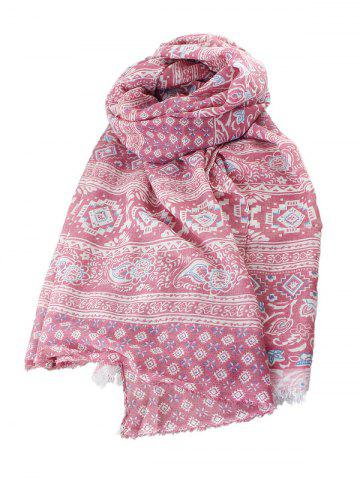 Ethnic Geometric Print Long Scarf