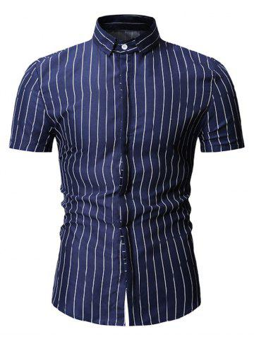 Striped Pattern Casual Short Sleeves Shirt