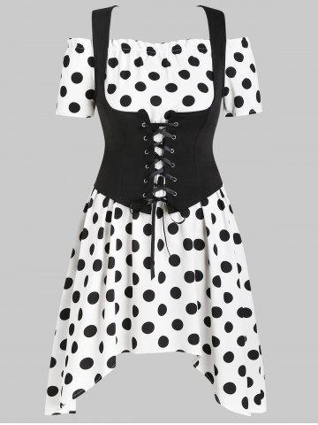 Plus Size Renaissance Bodice and Polka Dot Dress