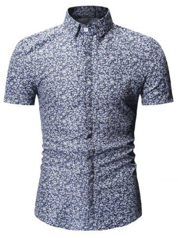 Floral Design Casual Short Sleeves Shirt
