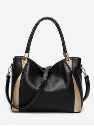 Leather Zipper Simple Style Tote -