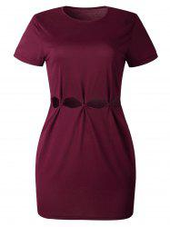 Hollow Out Mini Tee Dress -