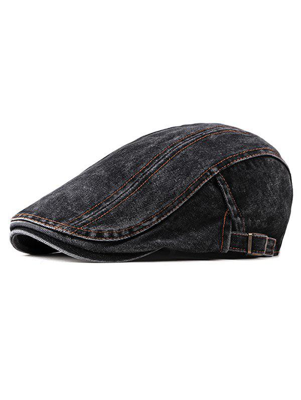 Chic Denim Casual Flat Cap