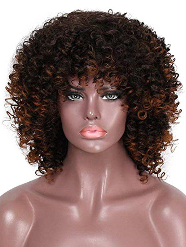 Afro Kinky Curly Medium Synthetic Wig