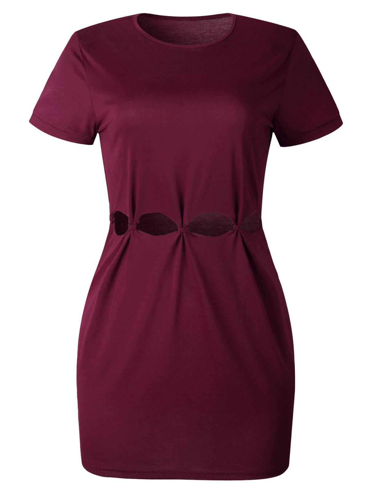 Best Hollow Out Mini Tee Dress