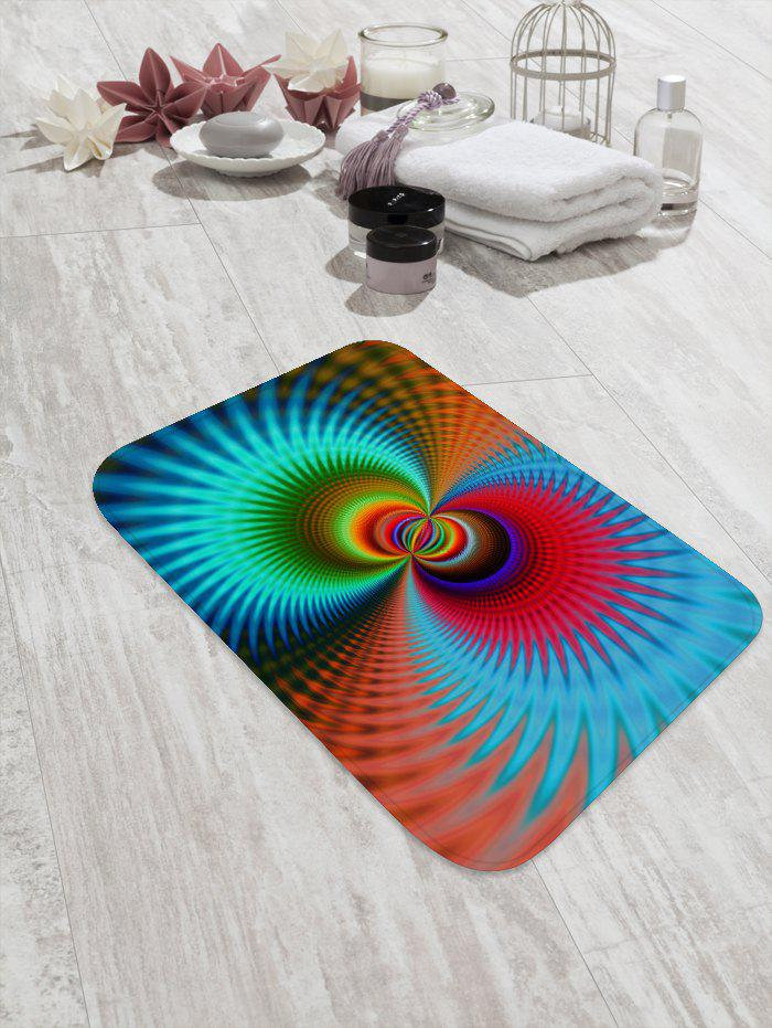 Colorful Abstract Patterned Water Absorption Area Rug