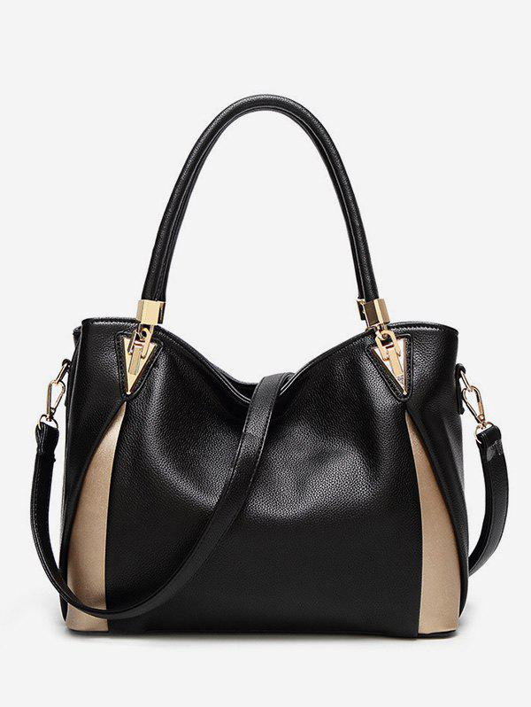 Latest Leather Zipper Simple Style Tote