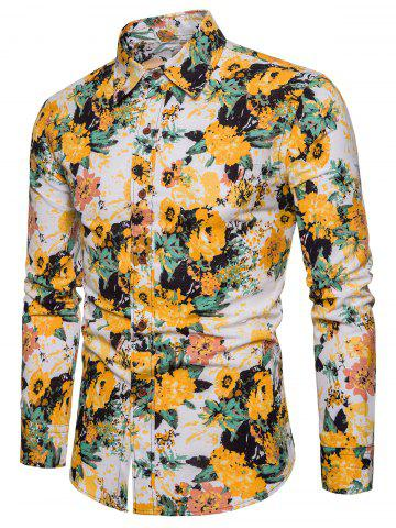 59a92e55c884 Mens Floral Long Sleeve Shirt - Free Shipping