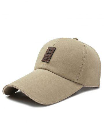 Letter Long Brim Baseball Cap
