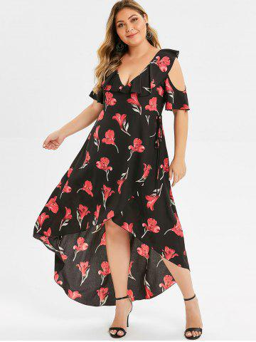 e86c54e834732 Plus Size Cold Shoulder Dress - Free Shipping, Discount And Cheap ...