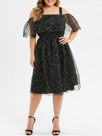 Shoulder | Glitter | Dress | Plus | Size