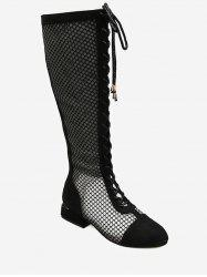 Mesh Breathable Lace Up Boots -