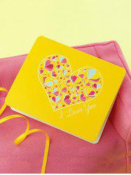 Love Heart Print Greeting Card -