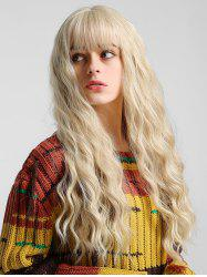 Solid Natural Wavy Long See-through Bang Synthetic Wig -