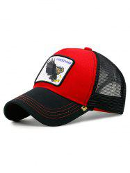 Casquette De Baseball Eagle Embroidery - Rouge