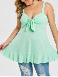 Plus Size Twist Solid Tank Top -