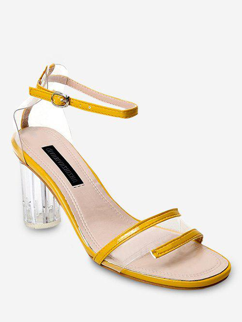 9d67f6fd8ab Clear Heel Transparent Mid Heel Sandals - Eu 39