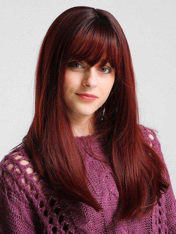 Fancy Long See-through Bang Solid Straight Synthetic Wig
