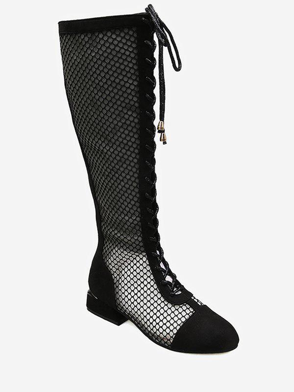 Outfits Mesh Breathable Lace Up Boots