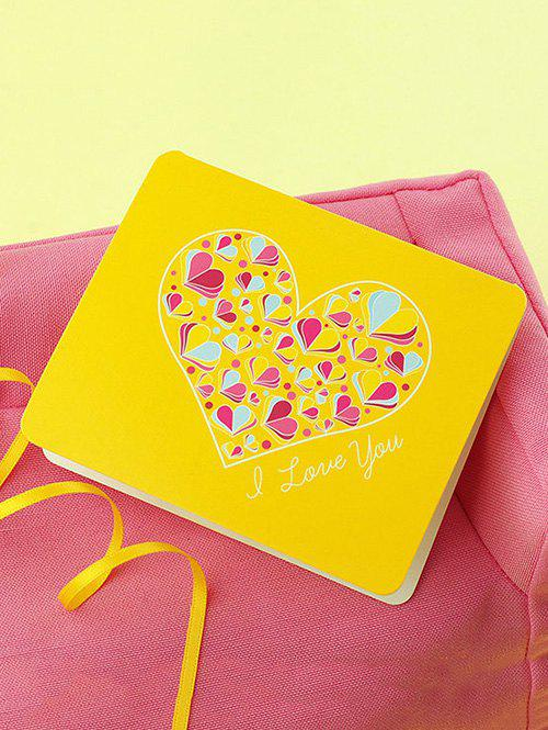 Fashion Love Heart Print Greeting Card
