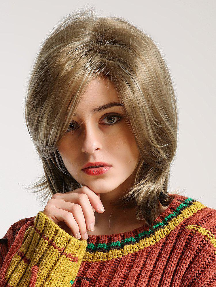 Sale Medium Side Bang Fluffy Straight Synthetic Wig