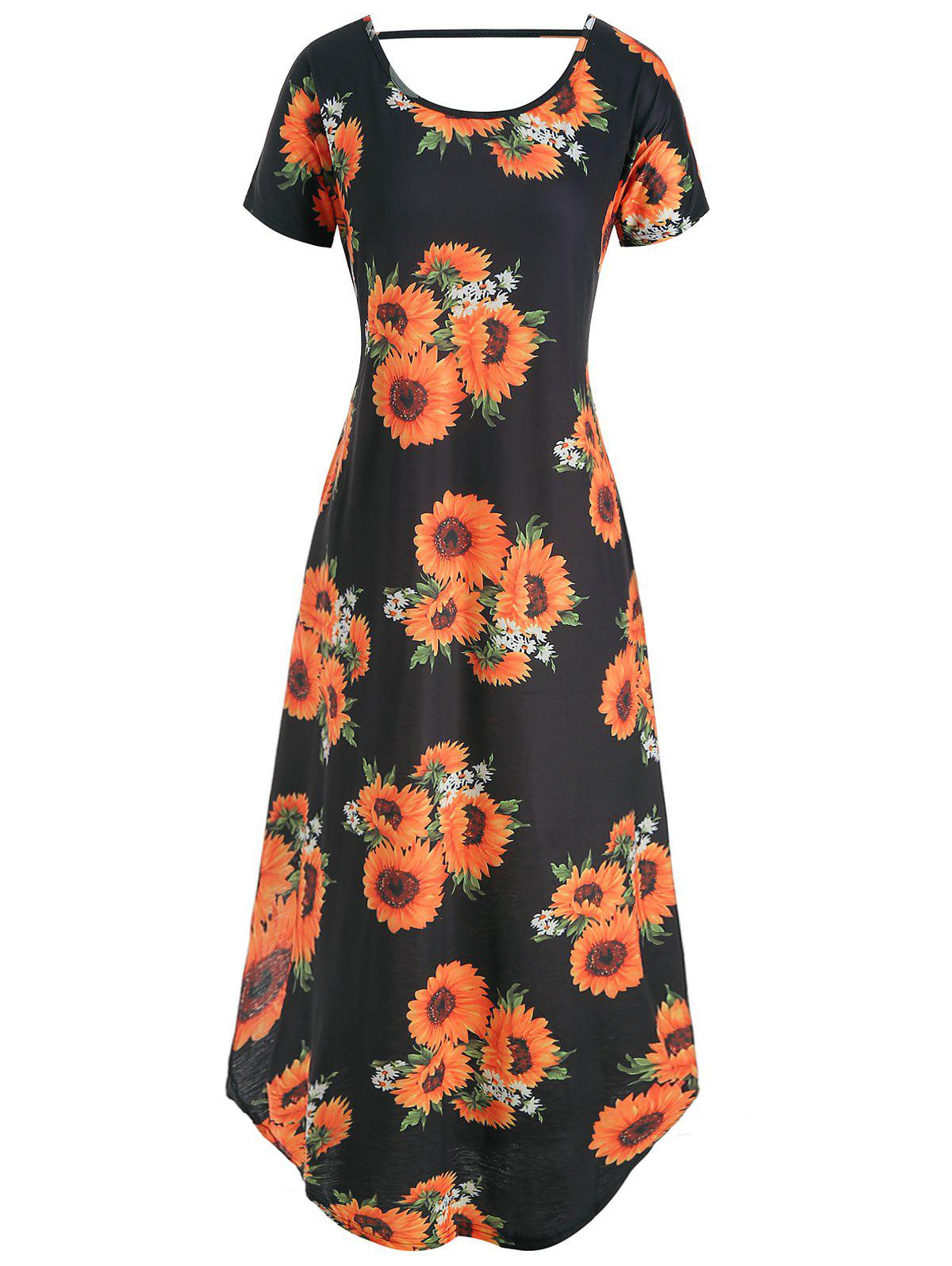 Shop Floral V Back Pocket Dress