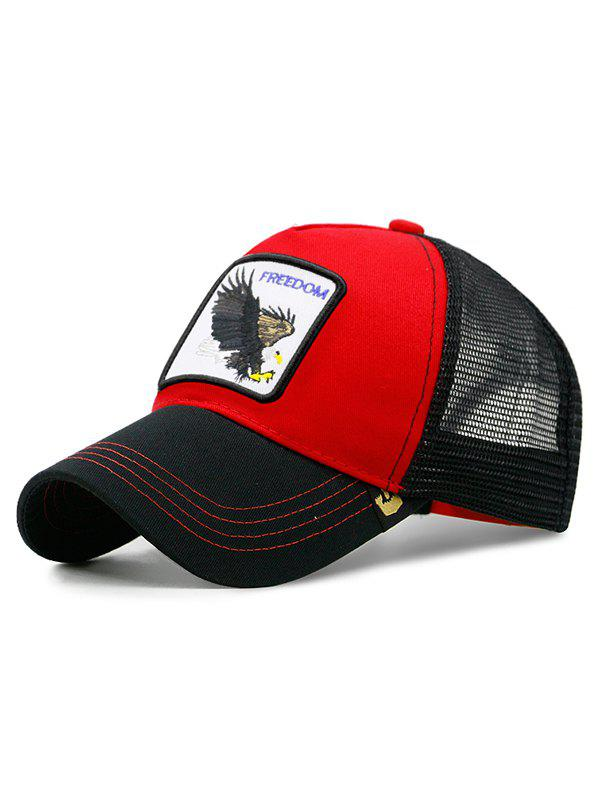 Casquette De Baseball Eagle Embroidery Rouge