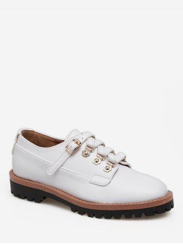 Buckled Round Toe British Shoes