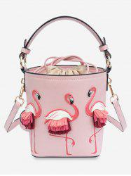 Flamingo String Bucket Shoulder Bag -