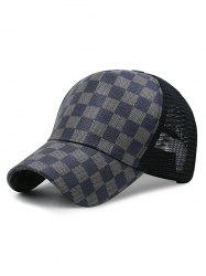 Summer Grid Pattern Mesh Baseball Cap -