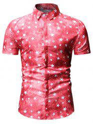 Star Print Short Sleeve Shirt -