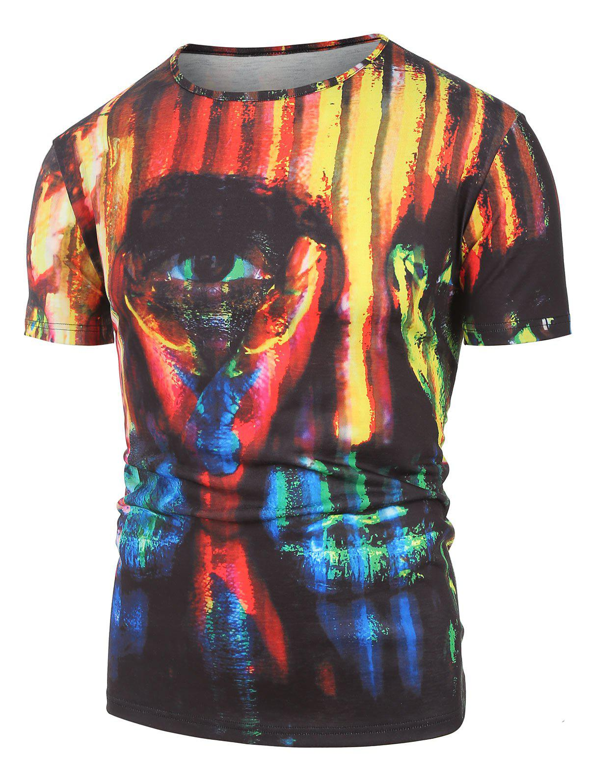 9ecf2fc3d16c 2019 Colorful Printed Short Sleeves T-shirt