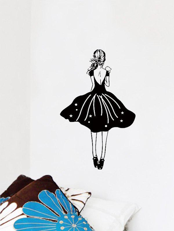 The Back of Girl Print Wall Stickers
