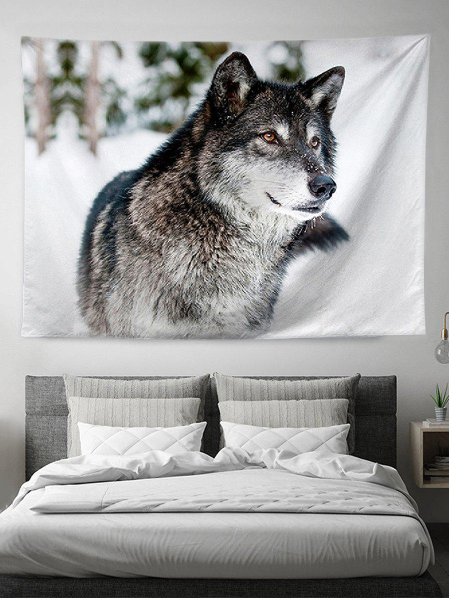 Animal Wolf 3D Print Wall Tapestry