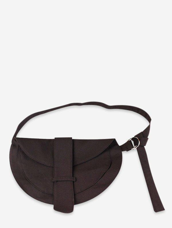 Outfits Striped Pattern Semicircle Belt Bag