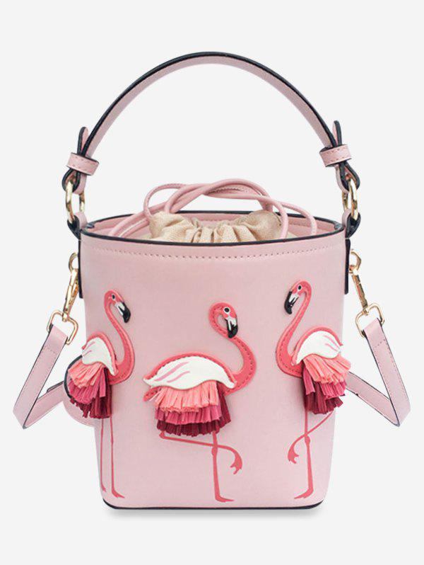 New Flamingo String Bucket Shoulder Bag