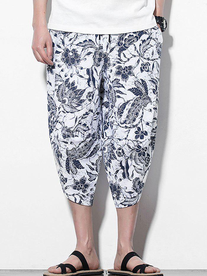Latest Flower Printed Casual Harem Pants