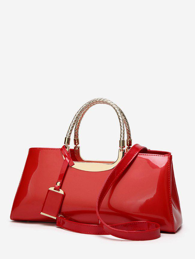 Outfit Patent Leather Pendant Rectangle Handbag