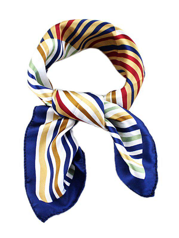 Affordable Striped Print Square Silky Scarf